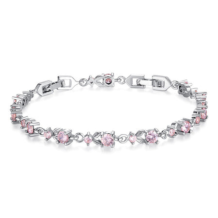 Savory Shining Zircon Crystal Chain Link Bracelet for Women by Ritzy - Ritzy Jewelry