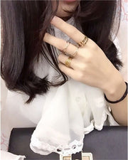 Unique Punk Finger Ring - Trendy Gold Knuckle Rings - Ritzy Jewelry