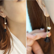 Ms Pearl Flower Long Drop Lovely Earrings for Women/Girls by Ritzy - Ritzy Jewelry