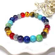 Carnal Energy Rainbow Stone Beads Chakra Bracelets for Women by Ritzy - Ritzy Jewelry