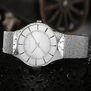 Superb Readeel Quartz Watch - Luxury Stainless Steel Ultra Thin Dial Clock Watch for Mens - Ritzy Jewelry