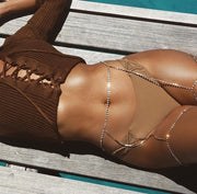 Lascivious Crystal Thigh Body Chain - Leg Beach Belly Chain for Women - Ritzy Jewelry