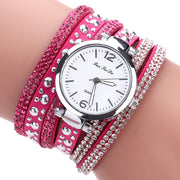 Go-go Luxury Leather Quartz Strap Wristwatch for Girls - Ritzy Jewelry