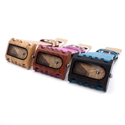 With-it Wooden Genuine Leather Fashion Brand Quartz Wristwatch for Women by Ritzy - Ritzy Jewelry