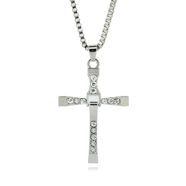 Heaven Titanium Steel Pendant Amulet Cross Necklace for Men's by Ritzy - Ritzy Jewelry
