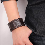 Risky Wide Leather Cuff Vintage Punk Bracelets & Bangles Wristband for Men's by Ritzy - Ritzy Jewelry