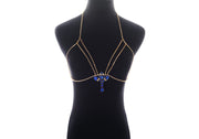 Prestigious Crystal Rhinestone Lure Body Harness Flower Chain for Women by Ritzy - Ritzy Jewelry