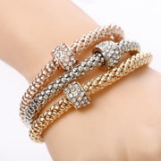 Ravishing Butterfly Crystal Bangle Charm Elastic Heart Bracelet for Women by Ritzy - Ritzy Jewelry