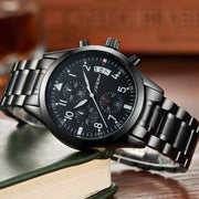 Crafted Top Stainless Steel Chronograph Quartz Wrist Waterproof Watch for Mens - Ritzy Jewelry