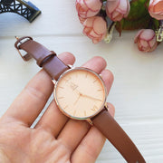 Slick SK Quartz Watch - Luxury Leather Geneva Clock Styish Wristwatch for Women - Ritzy Jewelry