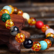 Pizzazz Chakra Natural Volcanic Stone Beads Bracelets for Women by Ritzy - Ritzy Jewelry