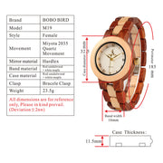 Rarest Handmade Wooden Band Fashion Quartz Watches for Women by Ritzy - Ritzy Jewelry