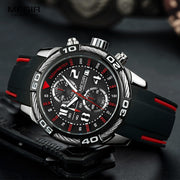 Impressive Megir Analogue Quartz Watch - Chronograph Battery Silicone Bracelete Sport Wristwatch for Mens - Ritzy Jewelry