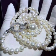 Pompous Exquisite Simulated long Pearl Sweater Necklace for Women - Ritzy Jewelry