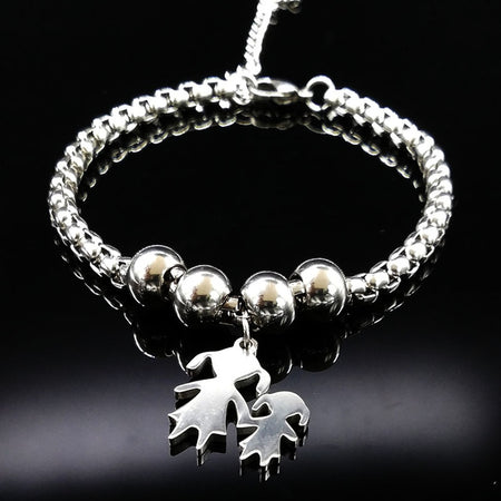 Gaudiness Stainless Steel Mother and Daughter Bracelets for Women - Ritzy Jewelry