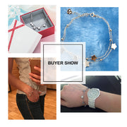 Luxuriant 925 Sterling Silver Star Rhinestone Two Layer Bracelets & Bangles for Women - Ritzy Jewelry