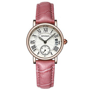 Sanda Sophisticated Casual Dress Leather Analog Calendar Wrist Watch for Women - Ritzy Jewelry
