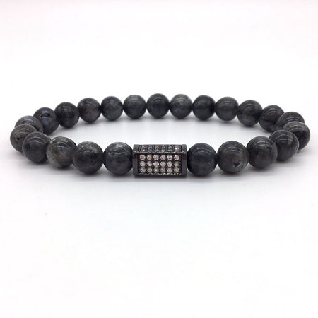 Naiqube New Trendy Column Charm Stone Bead Bracelet For Men's by Ritzy - Ritzy Jewelry