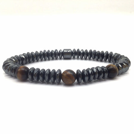 Comfortable Hematite Bead Charm Bracelet for Men's/Women by Ritzy - Ritzy Jewelry