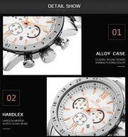 Primordial Megir Business Quartz - Top Fashion Steel Analog Waterproof Wristwatch Clock for Mens - Ritzy Jewelry