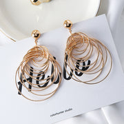 Rakish Vintage Big Circle Dangle Earrings Matte Gold Drop Earrings for Women by Ritzy - Ritzy Jewelry