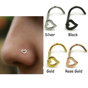 Chichi Stainless Steel Love Heart Rings - Multicolor Hooks Body Piecing For Women - Ritzy Jewelry