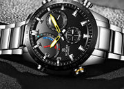 Binger Genuine Luxury Switzerland Watch - Staineless Steel Quartz Automatic Mechanical Luminous Watch for Mens - Ritzy Jewelry