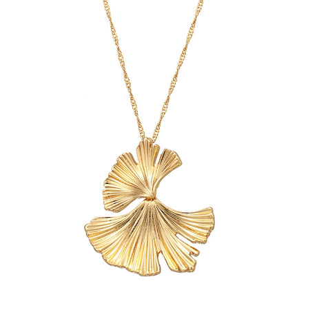 Fashion Minimalist Alloy Leaf Punk Pendant Necklace Gold Charm Necklace For Women - Ritzy Jewelry