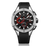 Fancied MEGIR Quartz Watches - Chronograph Functions Sport Watch Silicone Strap Wristswatch - Ritzy Jewelry