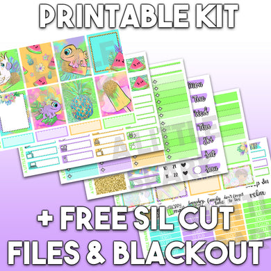 PRINTABLE: Stripes 3 Page Kit / Silhouette Cut Files / Blackout PNG File