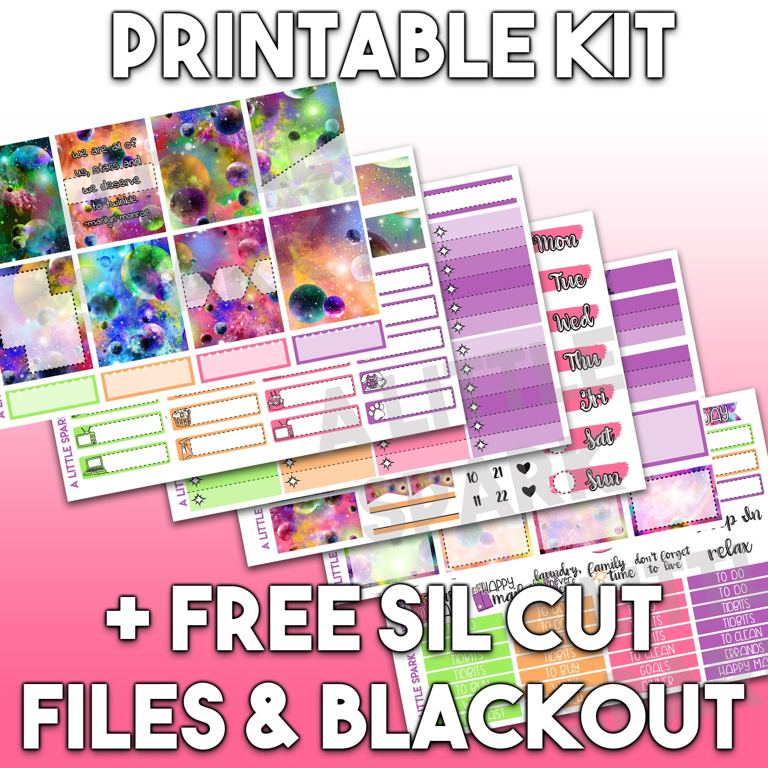 Vertical PRINTABLE Kit: Cosmic