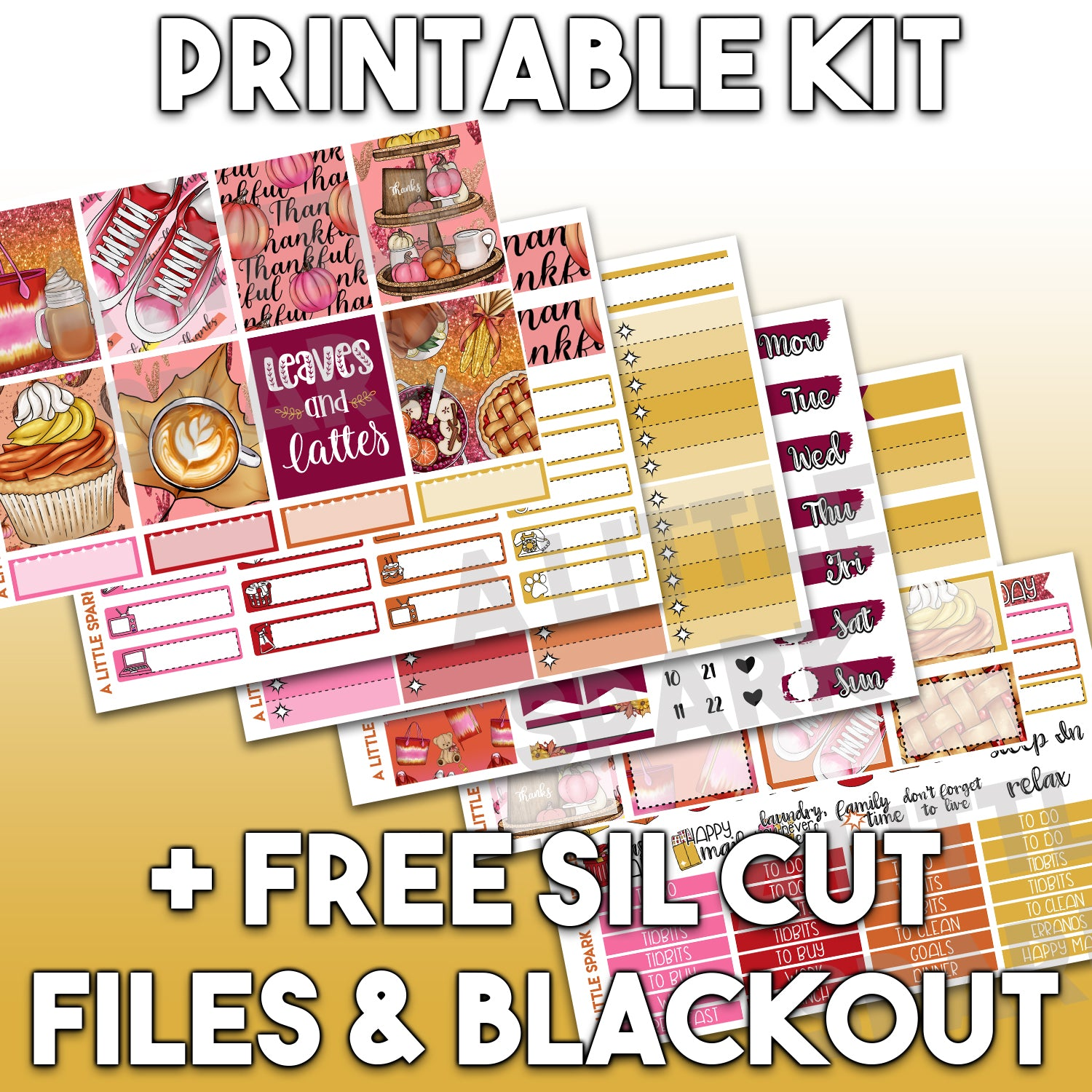 Vertical PRINTABLE Kit: Thursday