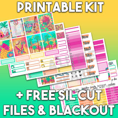 Vertical PRINTABLE Kit: Vibe
