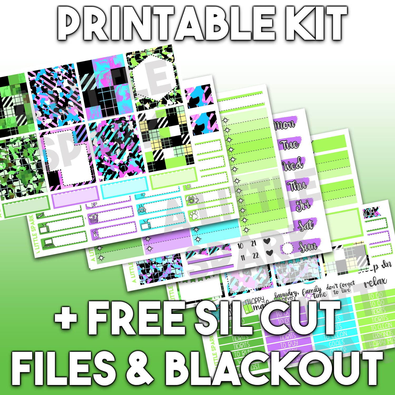 Vertical PRINTABLE Kit: Grid