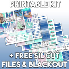 Vertical PRINTABLE Kit: Aurora