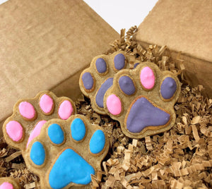 Half Dozen Treat Box (Paw Print Shaped)
