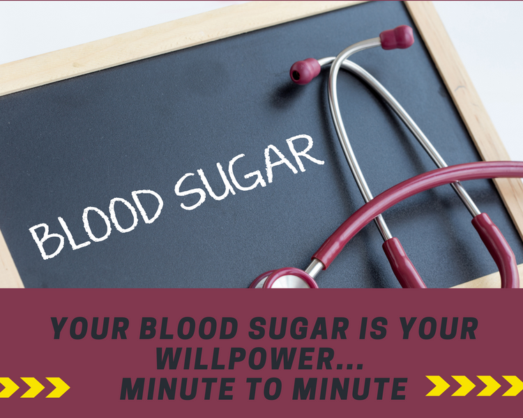 Motivational Monday: Your Blood Sugar is your Willpower... Minute to Minute