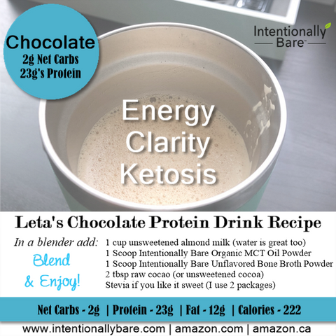 Leta's Chocolate Protein Drink