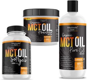 MCT Oil Bundle – Organic – MCT Oil Powder / MCT Oil Capsules / Pure C8 MCT Oil