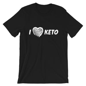 Short-Sleeve Unisex T-Shirt - I love keto