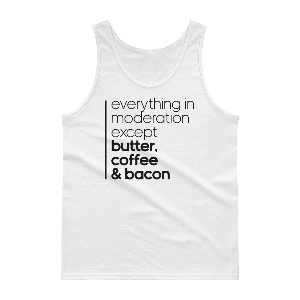 Unisex Tank top - Butter coffee and bacon