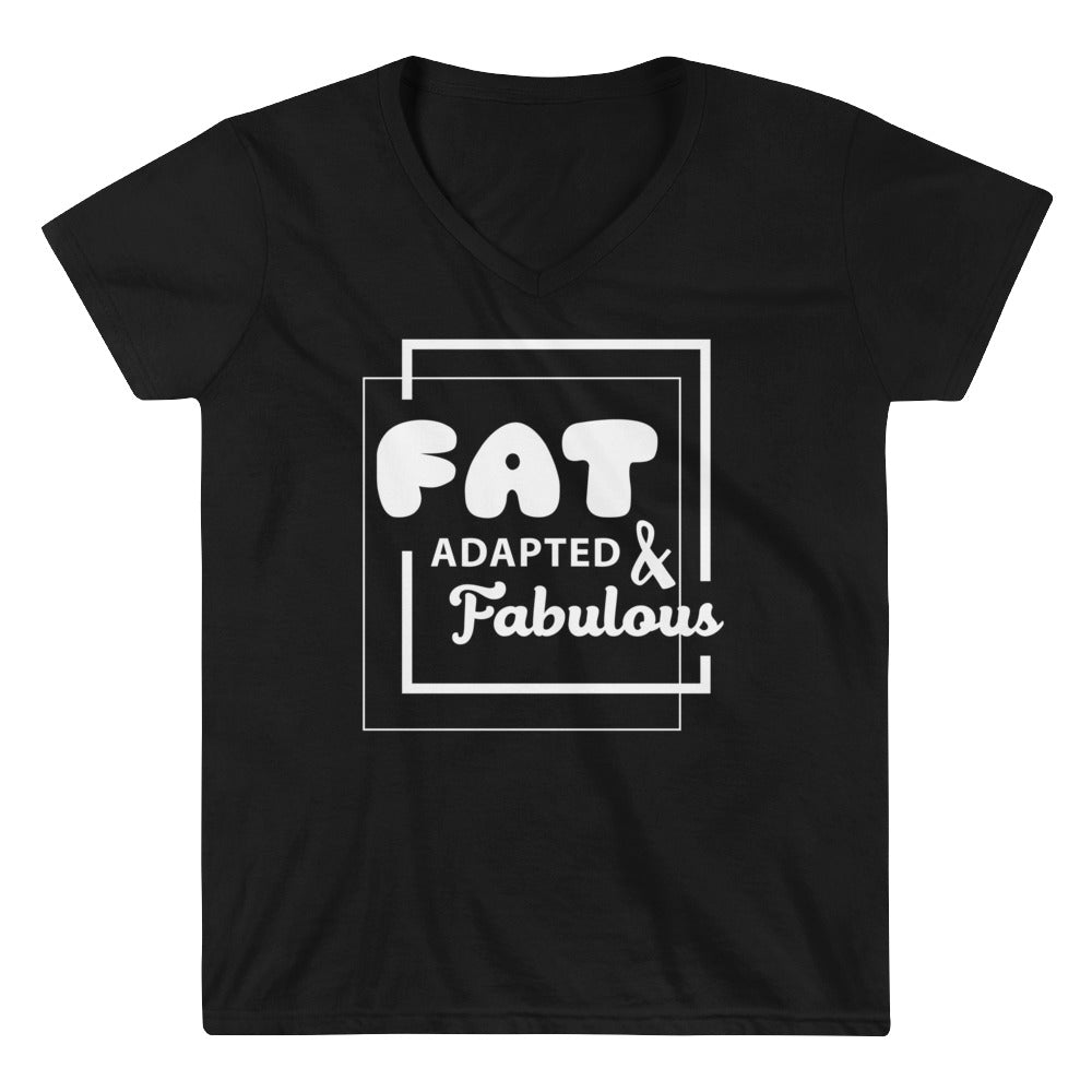 Women's Casual V-Neck Shirt - Fat adapted