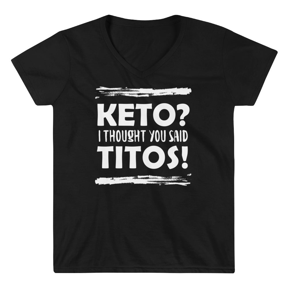 Women's Casual V-Neck Shirt - Keto Titos