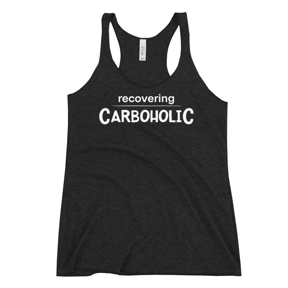 Women's Racerback Tank - Recovering Carboholic