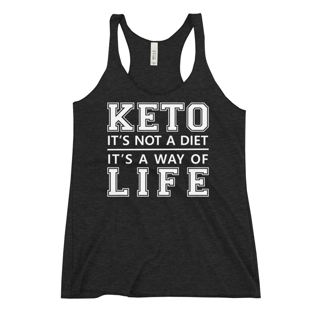 Women's Racerback Tank - Keto is a way of life