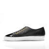 Black Leather Sneaker With Parent Leather Toe