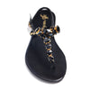 Black Suede with Black/Gold Crystal