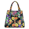 Large Floral Python Bag with Gold Snake Accessories