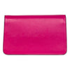 Vibrant Fuchsia Leather Clutch With Custom Swarovski Stone