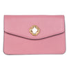 Soft Pink Leather Clutch With Custom Swarovski Stone